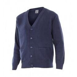 chaqueta punto  azul hombre