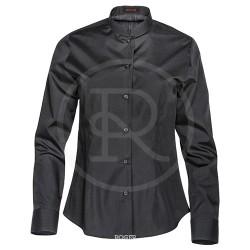 Camisa sra. cuello tirilla color negro manga larga